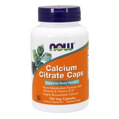 Кальций Calcium Citrate Caps NOW 120 veg caps США