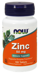 Цинк Zinc 50 mg NOW 100 tab США